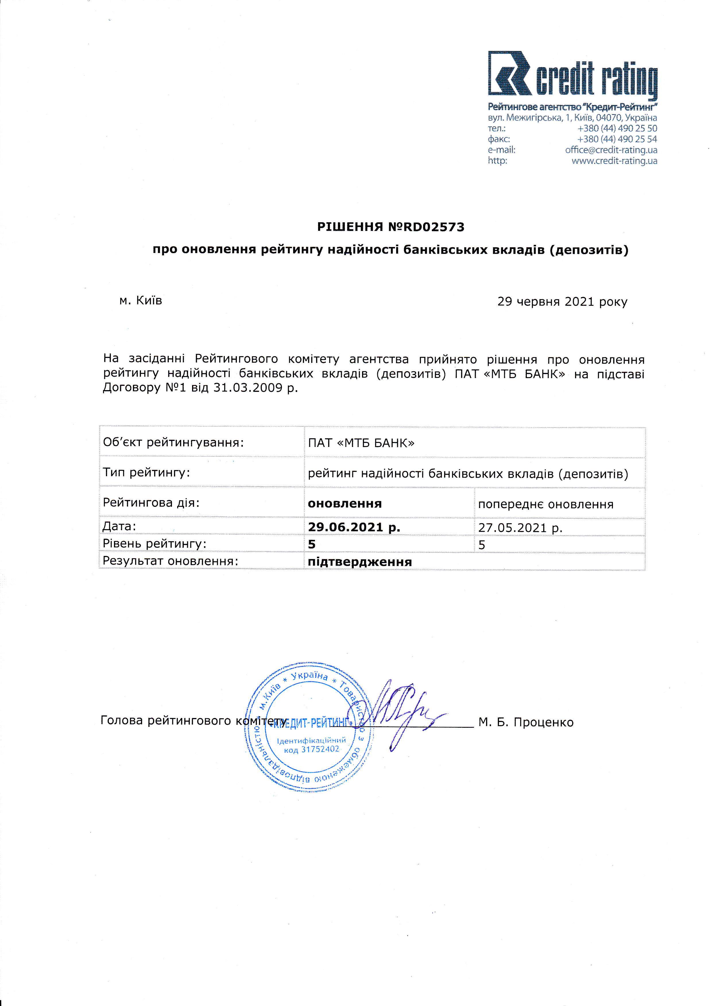 Рейтинг Депозитов - фото 2 - mtb.ua