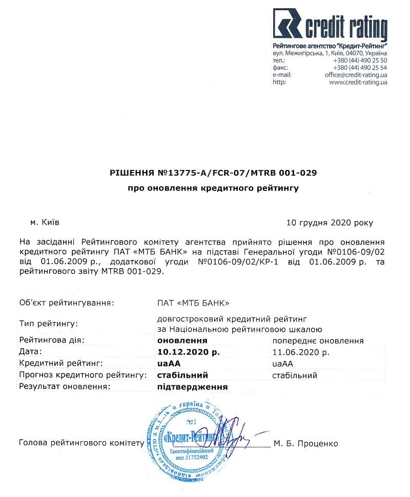 Кредитний рейтинг - фото 2 - mtb.ua