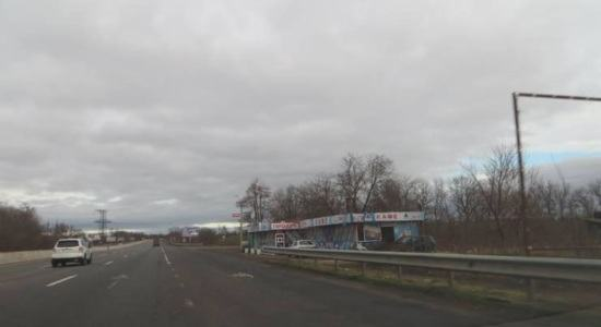 Front section of a commercial purpose on the highway Odessa-Kiev